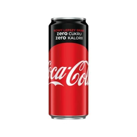 COCA-COLA ZERO Napój gazowany 330 ml 24 sztuki