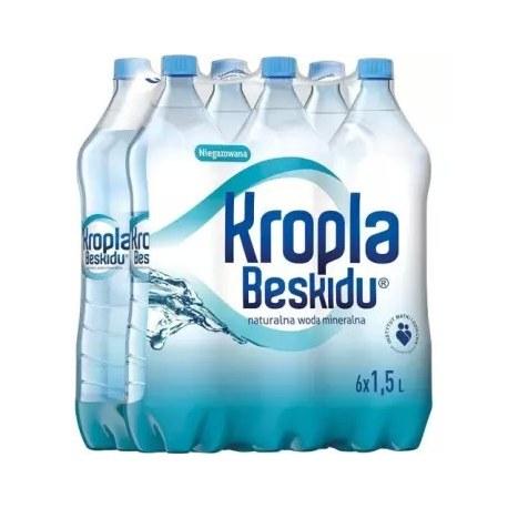KROPLA BESKIDU Naturalna woda mineralna niegazowana 6x1,5l 1.5 l
