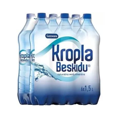 Woda Kropla Beskidu gazowana 1.5l 6 sztuk