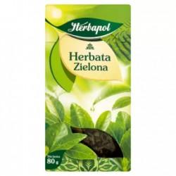 HERBAPOL Herbata zielona liściasta 80 g