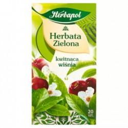 HERBAPOL Herbata zielona Kwitnąca Wiśnia 20 torebek 30 g