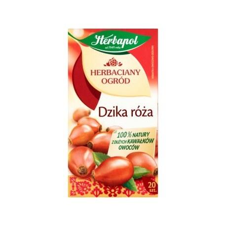 HERBAPOL Herbaciany ogród Herbata owocowo-ziołowa Dzika Róża 20 torebek 80 g