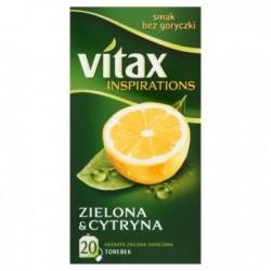 VITAX Inspirations Herbata zielona z cytryną 20 torebek 30 g