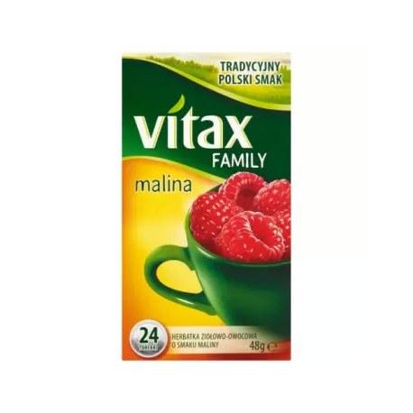VITAX FAMILY Malina Herbata owocowa 24 torebki 48 g