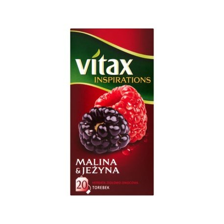 VITAX Inspirations Herbata malina-jeżyna 20 torebek 1 szt