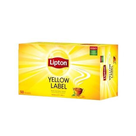 LIPTON Yellow Label Herbata czarna 50 torebek 100 g
