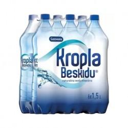Woda KROPLA BESKIDU gazowana 1.5l PALETA 504 BUTELKI