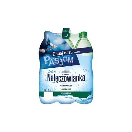 Woda Nałęczowianka gazowana 1.5l PALETA 504 BUTELKI