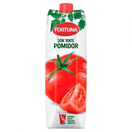 Fortuna Sok Pomidorowy 100% 1l. 12 sztuk